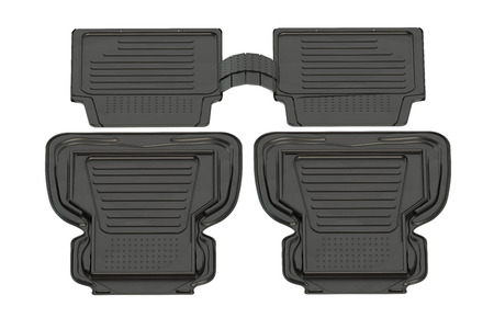 mat: set of car mats isolated on white background