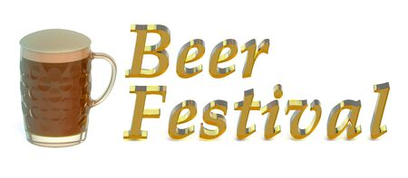 beer festival: Beer Festival concept isolated on white background