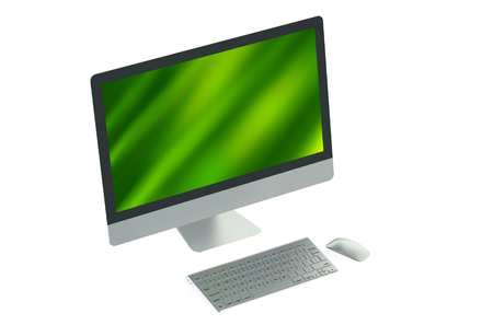 desktop pc: Desktop pc isolated on white background Stock Photo