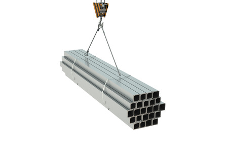 angles: Crane hook with rolled metal L bars angles