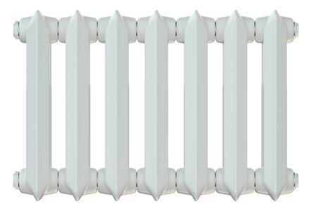 convection: cast iron heating radiator isolated on white background