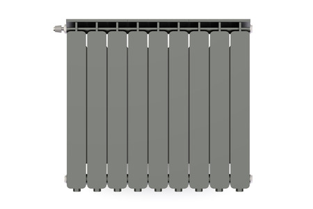 convective: black heating radiator isolated on white background