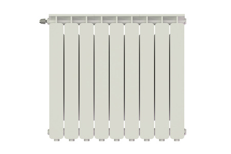 heating: heating radiator isolated on white background