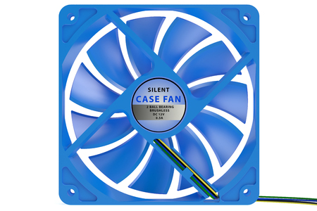 computer case: computer case cooler isolated on white background