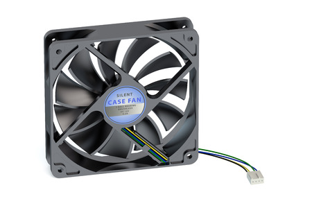 psu: computer cooler isolated on white background