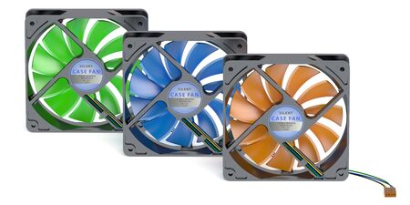 computer case: computer case fans isolated on white background
