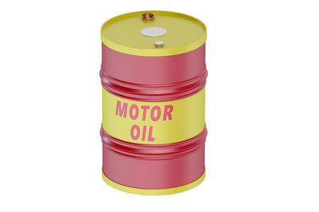 motor oil: Motor oil barrel isolated on white background Stock Photo