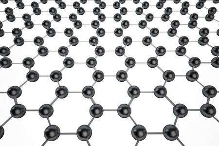 graphene: Graphene molecular mesh on white background