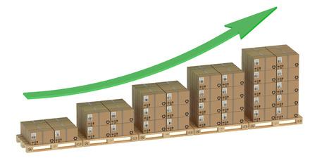 exportation: Diagram of increasing exportation and shipping