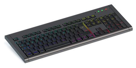 backlit keyboard: Modern backlit keyboard  isolated on white background