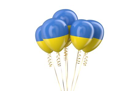 independence day: Ukraine patriotic balloons,  holyday concept