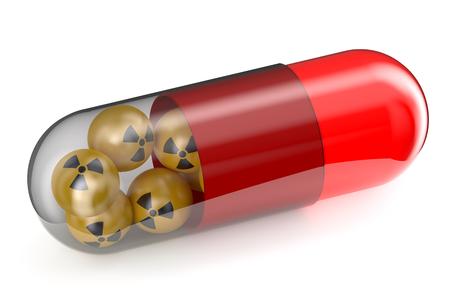 Anti-Radiation Drug concept isolated on white background