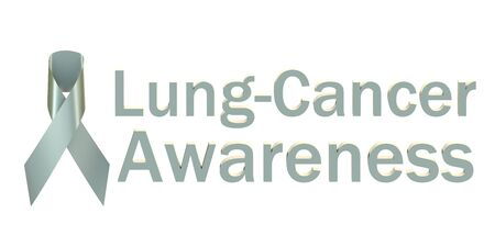 lungcancer: Pearl Ribbon Lung-cancer Awareness isolated on white background Stock Photo