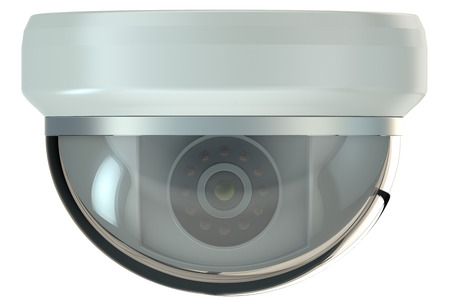 security camera: Dome security camera isolated on white background