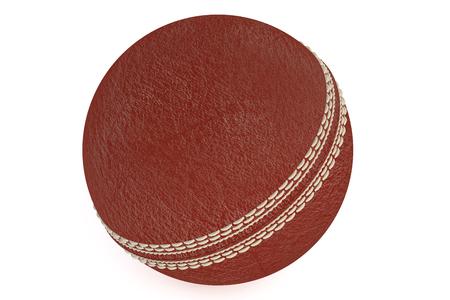 cricket ball: cricket  ball isolated on white background Stock Photo