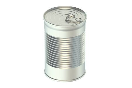 tin can: tin can isolated on white background
