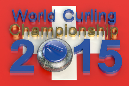 curling: World Curling Championship 2015 Switzerland concept Stock Photo