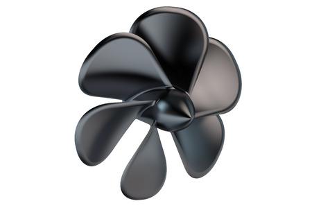 black fan: Black Fan Propeller  isolated on white background