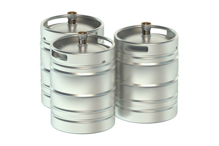 bung: Beer kegs isolated on white background