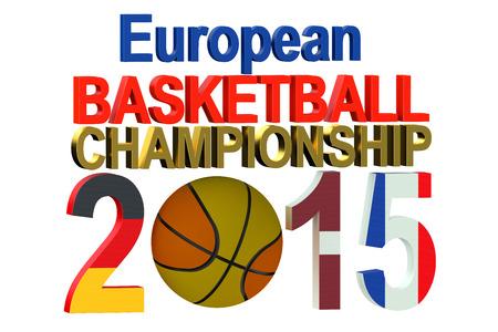 european championship: Basketball European Championship 2015 concept