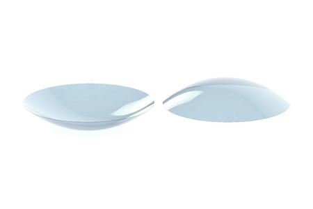 lentes contacto: Lentes de contacto aislado en el fondo blanco