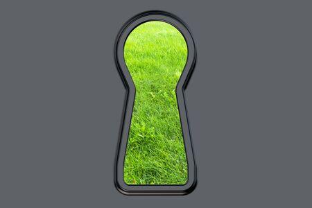 empty keyhole: Keyhole  isolated on white background