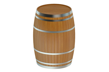 bung: Wooden barrel isolated on white background