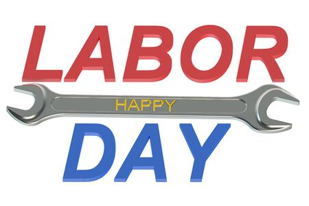 concept day: Happy Labor Day concept isolated on white background
