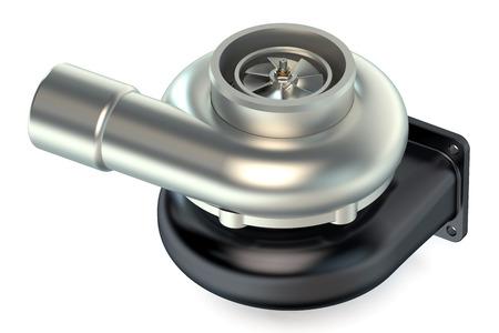 turbocharger: Turbocharger isolated on white background Stock Photo