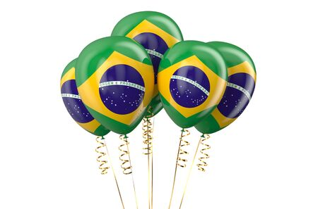holyday: Brazil patriotic balloons,  holyday concept isolated on white background