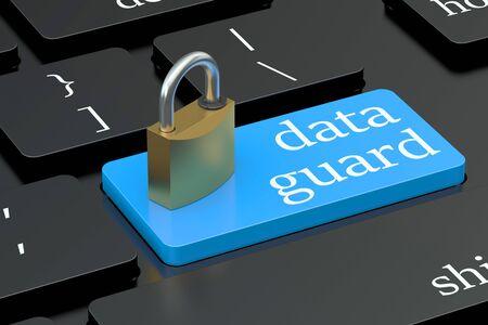 keyboard button: Data guard concept on keyboard button