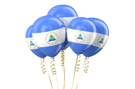 declaration of independence: Nicaragua patriotic balloons, holyday concept isolated on white background