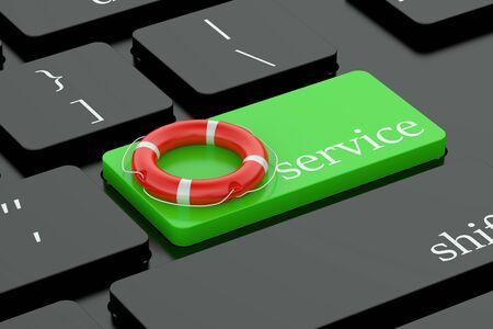 keyboard button: Service concept on keyboard button Stock Photo