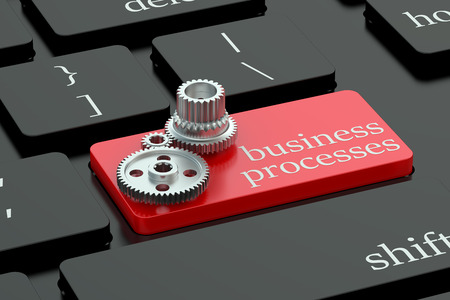 keyboard button: Business processes concept on keyboard button