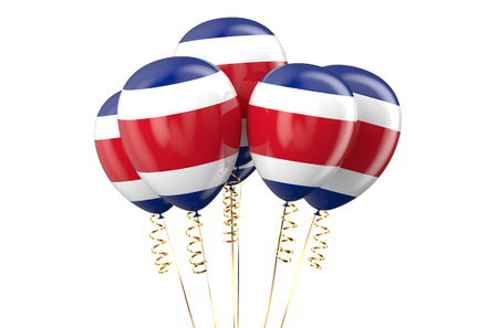 independence day: Costa Rica patriotic balloons, holyday concept