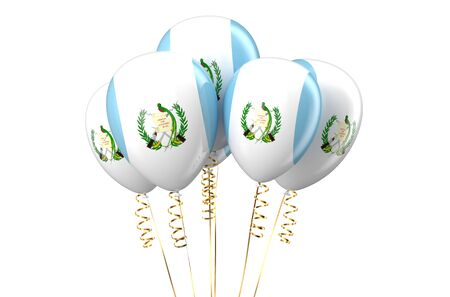 declaration of independence: Guatemala patriotic balloons,  holyday concept isolated on white background