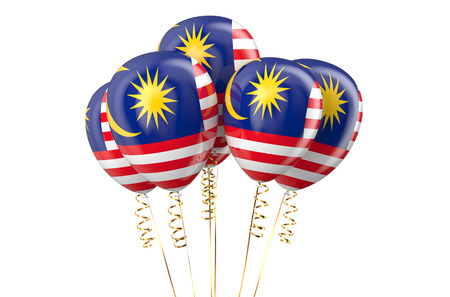 declaration of independence: Malaysia patriotic balloons, holyday concept