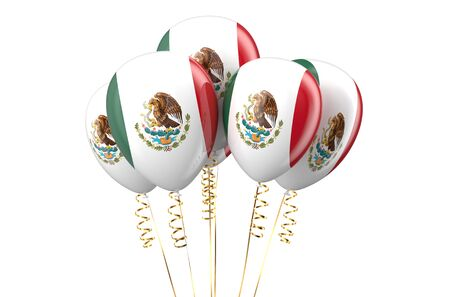 holyday: Mexico patriotic balloons, holyday concept