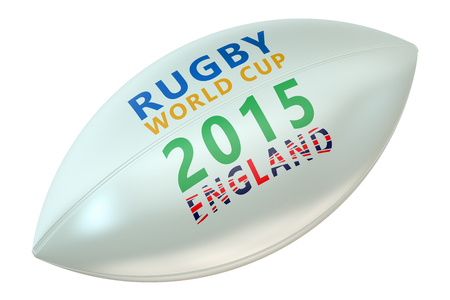 rugger: Rugby Ball  World Cup England concept isolated on white background