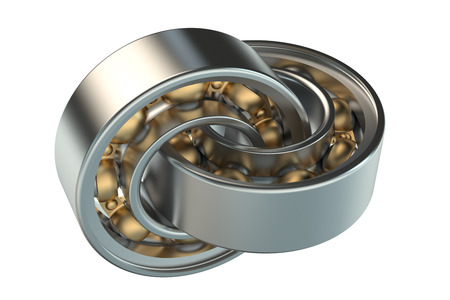 friction: ball bearings isolated on white background