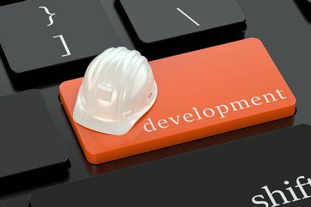 keyboard button: Development concept on red keyboard button