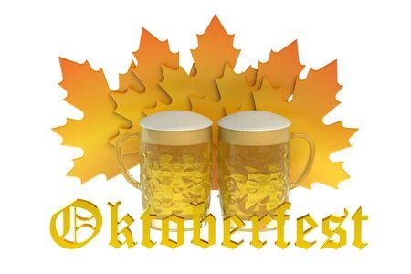 beer festival: Oktoberfest Beer Festival concept isolated on white background