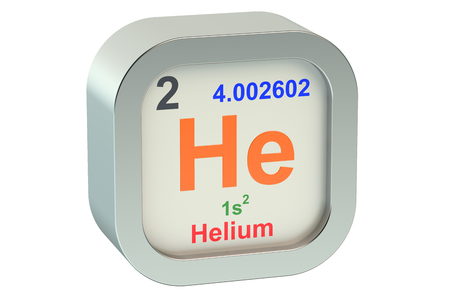 helium: Helium element symbol isolated on white background