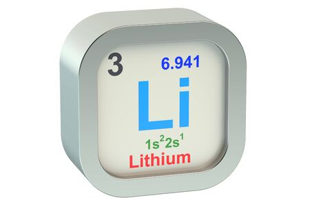 lithium: Lithium element symbol isolated on white background