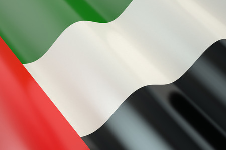 national freedom day: Flag of United Arab Emirates in the wind