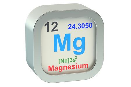 alkali metal: Magnesium element isolated on white background Stock Photo