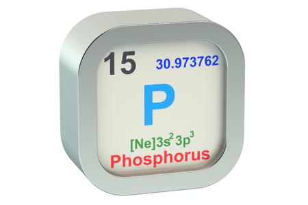 white phosphorus: Phosphorus isolated on white background Stock Photo