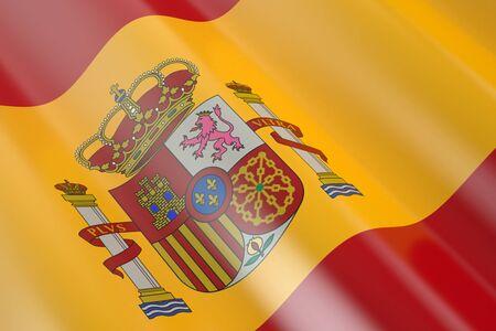 spanish flag: Spanish flag in the wind