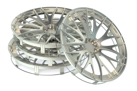 hubcap: Wheel Covers isolated on white background