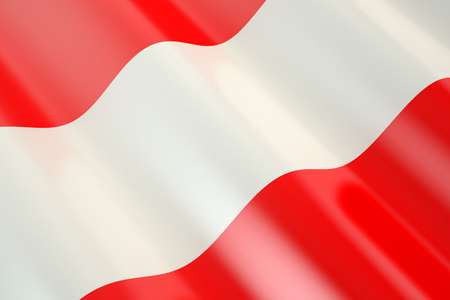 austria flag: Austria Flag  in the wind Stock Photo